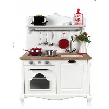 Детская кухня M, белый шифон