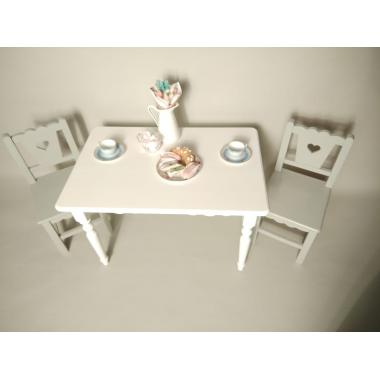 """Детский стол прямоугольный """"белый шифон"""""""