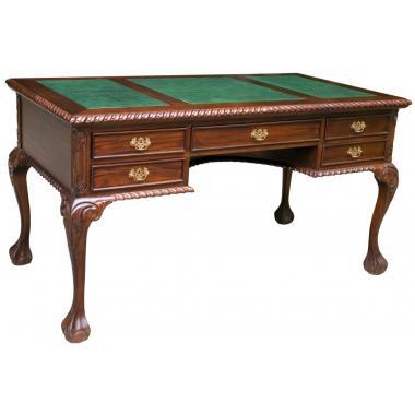 SD07 GREEN  Письменный стол в стиле Чиппендейл 150x80x77