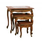 NT02 Набор из трех журнальных столиков деревянных  60х42х60